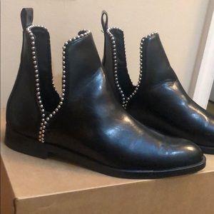 Zara black boots with studs